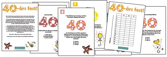 quiz til 60 års fødselsdag