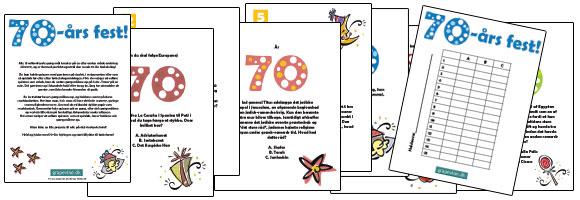 indbydelse til 70 års fødselsdag