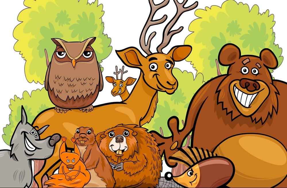 skattejagt i skoven